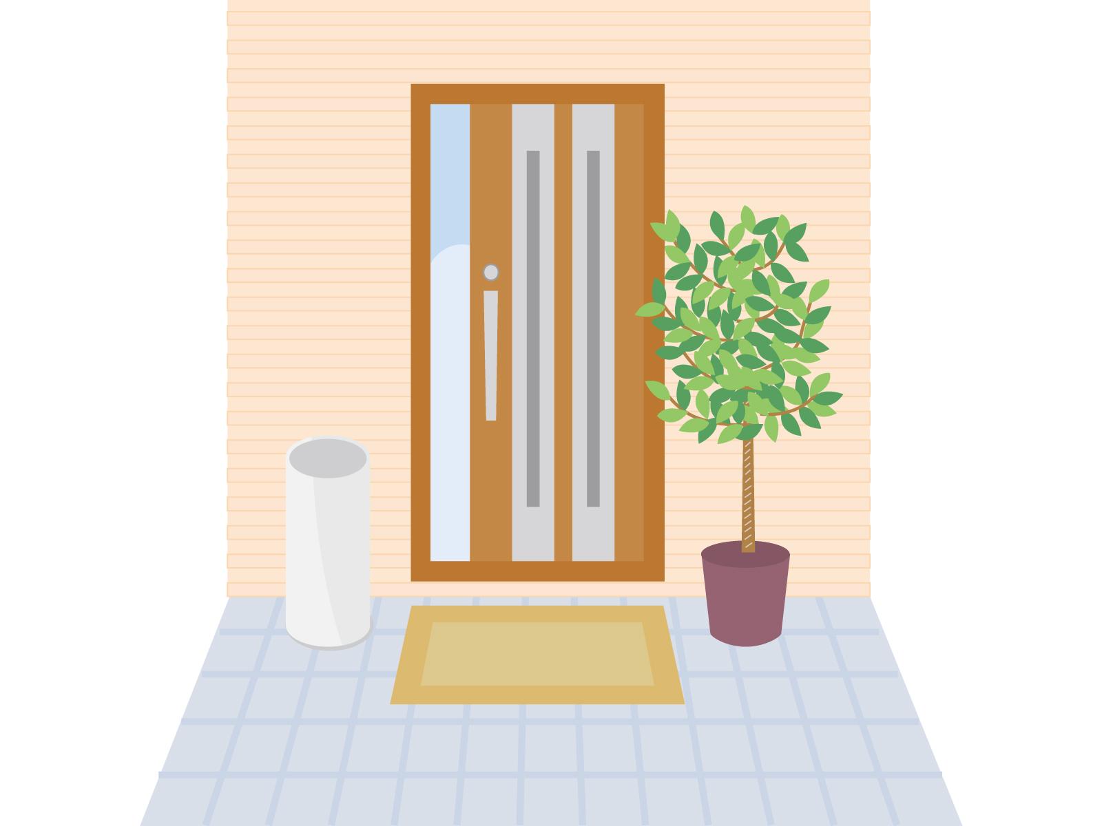 玄関風水の画像