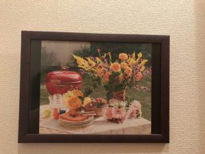 額に入った花の写真