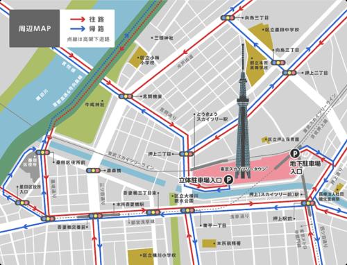 東京スカイツリー駐車場地図